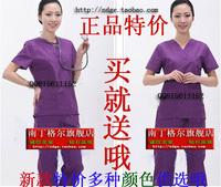 Nurse clothing purple clothing clothesbrush Women surgical clothing V-neck
