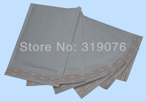 Free shipping High quality white kraft bubble envelope padded mailer packaging bags,cushioned air bubble mailer(China (Mainland))