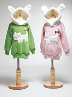 2013 HOT SELL girls hoodies kids sweat shirts 5pcs/lot  kitty fleeces girls long shirts girls coat hoody with hat FREE SHIPPING