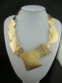 Min.order is$15(MIx order)Free shipping,2013 Unique style!! women 18k Gold plated statement choker collar fashion necklace