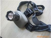LED Headlamp 5W CREE Q3 LED Headlight 3 Mode 3* AAA Zoomable Zoom Headlamp Gray Waterproof Out Hiking Head light