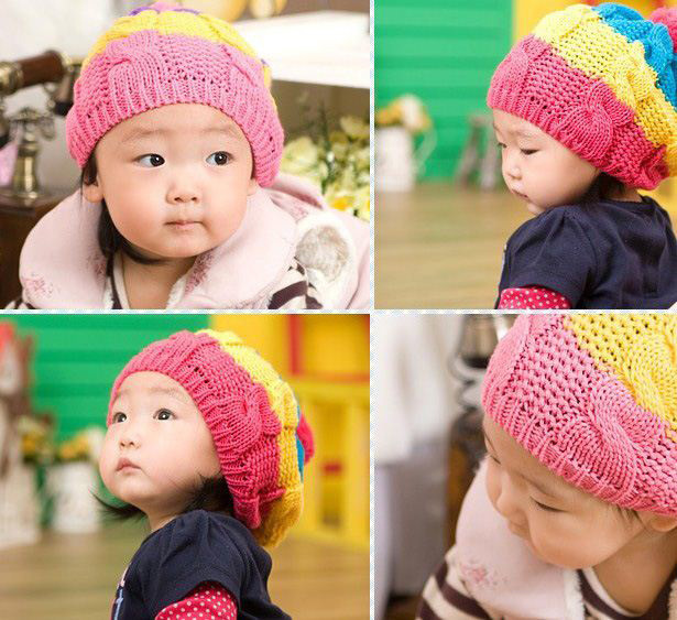 YUN Baby hat 100% cotton baby hat child knitted hat male female child cap ear toe cap covering cap(China (Mainland))