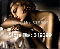 Tamara De Lempicka Oil Painting Reproduction on Linen Canvas,The Sleeping Girl 1,Fast Shipping,100%handmade,MuseamQuality
