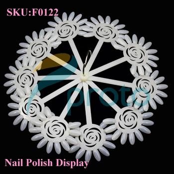 Natural Sunflower Nail Polish Display Sticks with Ring Nail Art Display Color Chart Ring Holder Nail Tools SKU:F0122