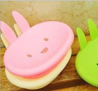 [Vic] Free shipping 5pce/lot 2013 High-Quality Kawaii leveret soap box/MOMO rabbit soap box/ plastic soap box/ soap case