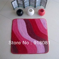 Waste-absorbing square curong mats bathroom doormat slip-resistant pad 50 rose