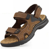 Free shipping new arrive 2013 hot selling men&#39;s genuine leather sandals men&#39;s slippers leather Beach shoes
