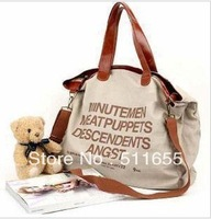 Promotion + free shipping  Han letters recreational canvas shoulder bag male and female