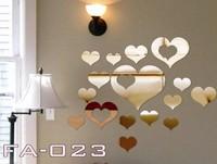 Min order 15 usd ( Mix items)  Mirror Sticker 16pcs Love peach stickers