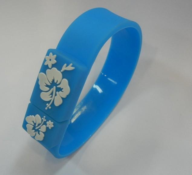 Freeshipping+dropshipping!Hot sales New cartoon blue Wrist band usb 2.0 memory stick pen thumb drive(China (Mainland))