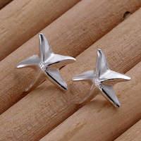 Lose money Promotion! Wholesale 925 silver earrings, 925 silver fashion jewelry, Seastar Earrings E033