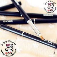 Single cosmetic brush top mink portable rotary retractable lip brush