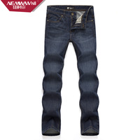 Newman hill quality male jeans  autumn and winter fashion slim male denim long trousers straight jeans