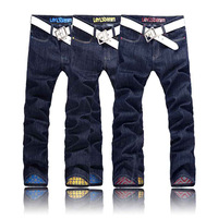 free shipping 2013 jeans for men  spring colorful orderliness straight trousers male jeans male jeans