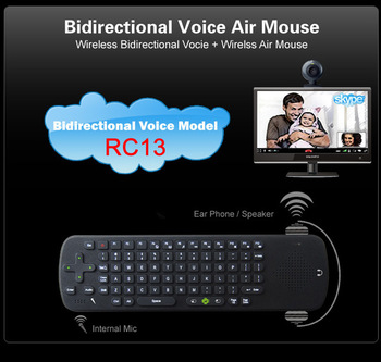 Free Shipping!! Measy RC13 Bidirectional Voice Air Mouse Wireless Keyboard Speaker Skype Phone