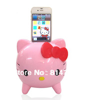 Cartoon Hello Kitty Pink & White Speaker for iPhone&iPod