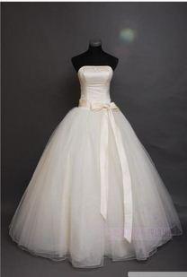 vestido de noiva 2014 159      fashionable sexy big bow lace up   wedding dress bride bridal gown dresses