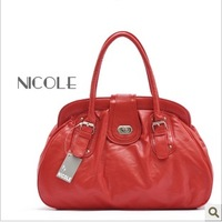 Fashion fashion classic red brief fashion handbag shoulder bag women's handbag work bag lilun