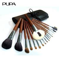 Cosmetic brush set professional pupa 18 sable makeup brush set PU-028