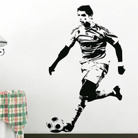 Free Shipping Wall stickers Home decor Size:690mm*1180mm PVC Vinyl paster Removable Art Mural Cristiano Ronaldo FOTTBALL C-86
