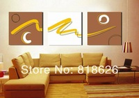 3 Panels Canvas Painting Wall Hanging Picture Modern Living Room Art , Free Shipping pt40