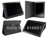 "Free Shipping Stand Folio Leather Tablet Black Cover Case For 10.1"" Acer Iconia Tab A510 A511"