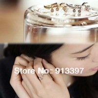 24PCS Alloy Silver Gold Musical Note Unadjustable Finger Ring Rhythm Rings Lots Inner 17mm // Random Color