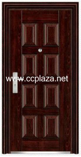 cold-roll steel panel Steel double doors,Security doors,Fire resistant doors,Metal doors,FHM134(China (Mainland))