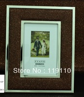The metal frame and bag leather photo frame004DS04-46