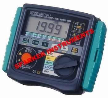 New Multifunction Tester Meter Kyoritsu 6050 Fault Loop and RCD Testing