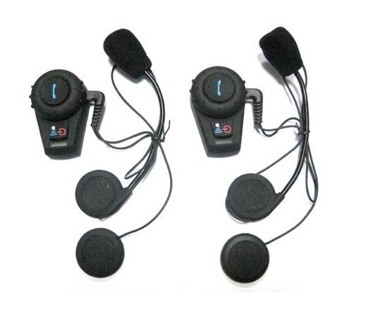 Free Shipping!!2x500M Motorcycle BT Bluetooth Multi Interphone Headset Helmet Intercom Handfree(China (Mainland))