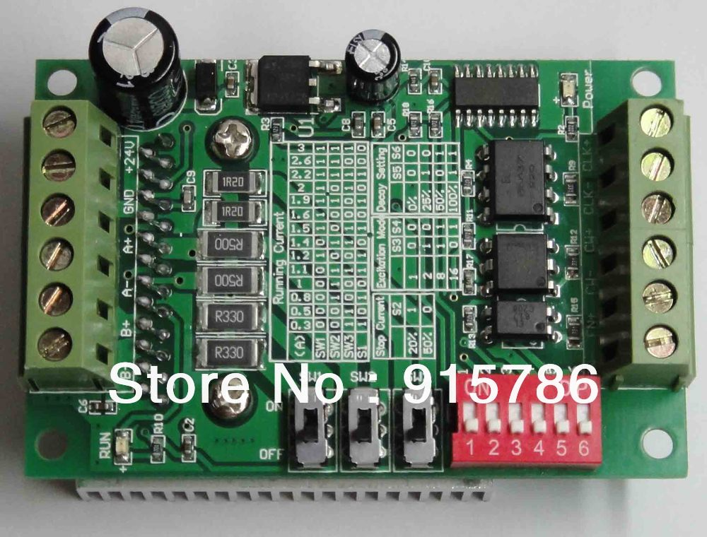 TB6560 3A stepper motor drive single-axis stepper motor driver board controller 10 file current(China (Mainland))