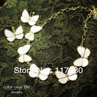 SD Fashion Jewelry Wholesale Genuine Natural White Shells The Butterfly Earrings Necklace Set, Banquet, wedding Free Shipping