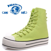 2013 spring high-top shoes platform shoes after the bandage women's casual canvas shoes h6008