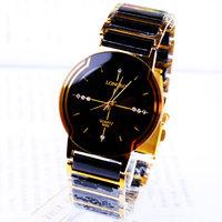 30M Waterproof Brand Gold strap Fashion rhinestone exquisite gift male watch Business watch ceramic watch 158966