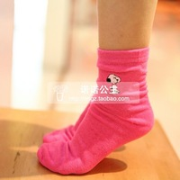 Spring new arrival SNOOPY socks children socks male child female child 100% cotton kid's socks b