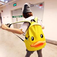 2013 cartoon bag duck backpack laptop backpack casual fashion women's handbag