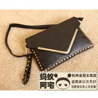 Spring women's handbag rivet fashion envelope briefcase handbag messenger bag women's handbag