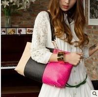 Classic fashion genuine leather woven bag vintage casual one shoulder big bags portable one shoulder women's handbag