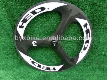 wholesale- HED.3 tri spokes carbon road wheelset & clincher/tubulat  carbon front wheelset 700C 70mm 3k/ud/12k glossy/matte