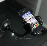 1pc Windshield Car Mount Phone Holder with Photo Frame For MP4/MP3/PDA/Mobile 80409 Free Shipping