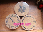 Wholesale Retro Zakka Style 3 design Round Wood Cup Mat Mug Mat 15pcs/lot Free Shipping(Hong Kong)