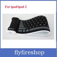 New Arrival!!Free Shipping Mini Bluetooth wireless Keyboard waterproof Silicone keyboard For iPad roll up keyboard