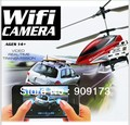 New 2.4G 3CH U16W Use For Apple/Iphone Wifi RC Helicopter With Camera And Gyroscope RC Toy VS S977/S929/S2/U13A + Free Shipping