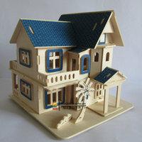 DIY 3d puzzle  handmade assembling model toy Sunshine beach villa house puzzle