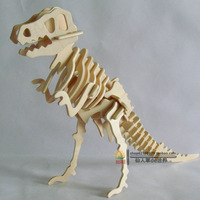 3D animal model diy 3d puzzle child  assembling toys wooden puzzle tyrannosaurus puzzle