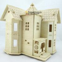 DIY 3d puzzle child handmade diy assembling toys model small  villa  castle  model