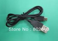 Free shipping 64cm length USB 2.0 A TO MINI B 5-PIN USB cable,mp3 Mp4 Cable 10pcs/lot