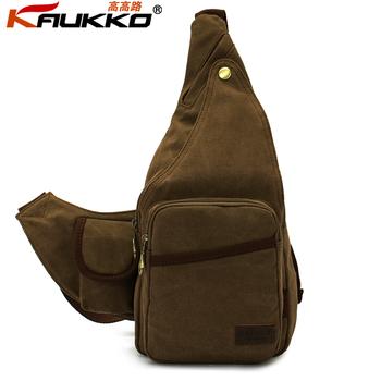 brand Cotton fashion vintage outdoor Canvas men bicycle Chest  Pack small sport shoulder Messenger Bag  for Man, wholesale, FJ51