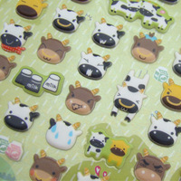 Umi small cow stickers swizzler bubble photo album mobile phone decoration stickers Free Shipping